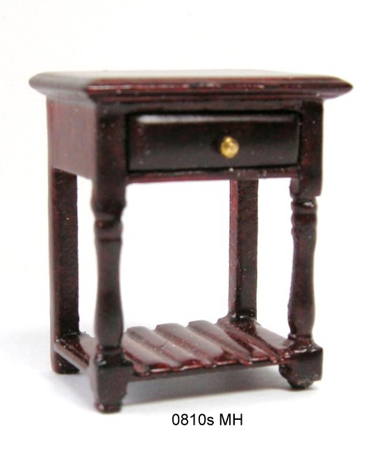 End Table with Pot board-mahogany - Half Scale