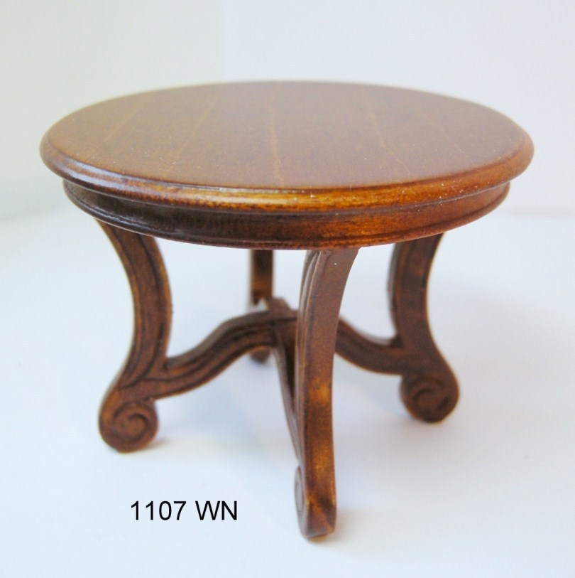Round Side Table - walnut