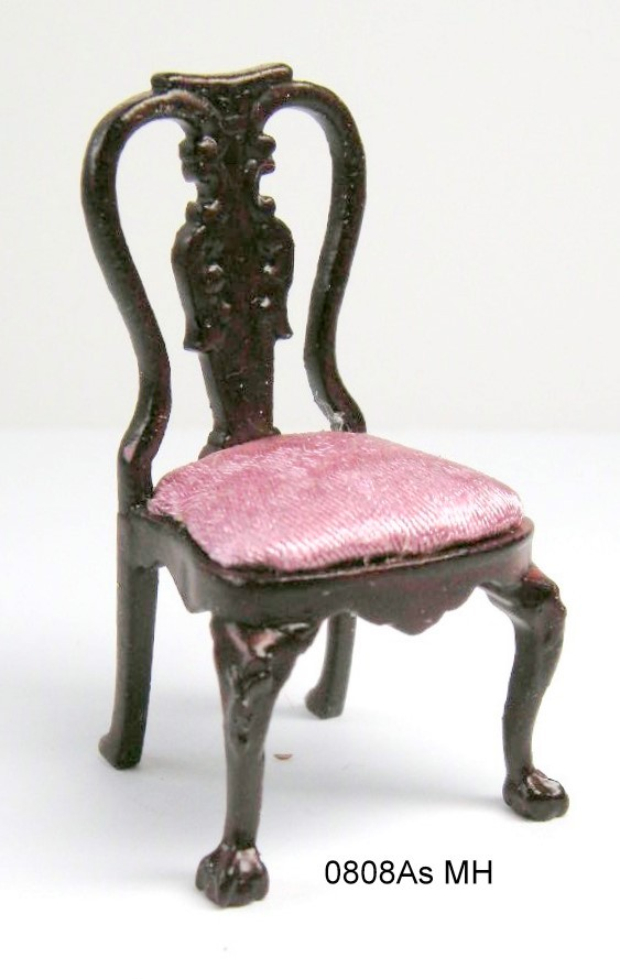 0808ASMH Half Scale - George1 Side Chair - mahogany